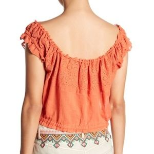 79bcfb66f3e681 Free People Tops - Free People Eyelet You A Lot Top